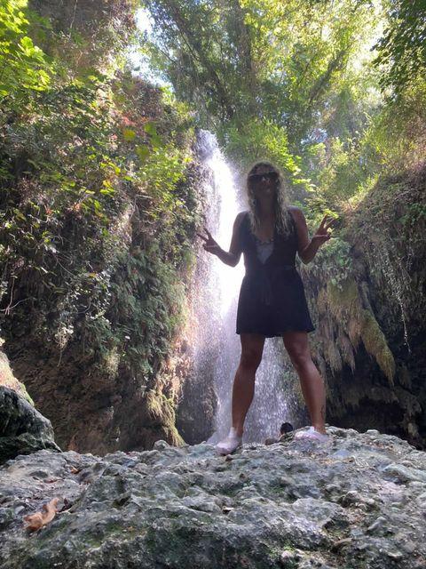 Waterfall at Salikent Gorge