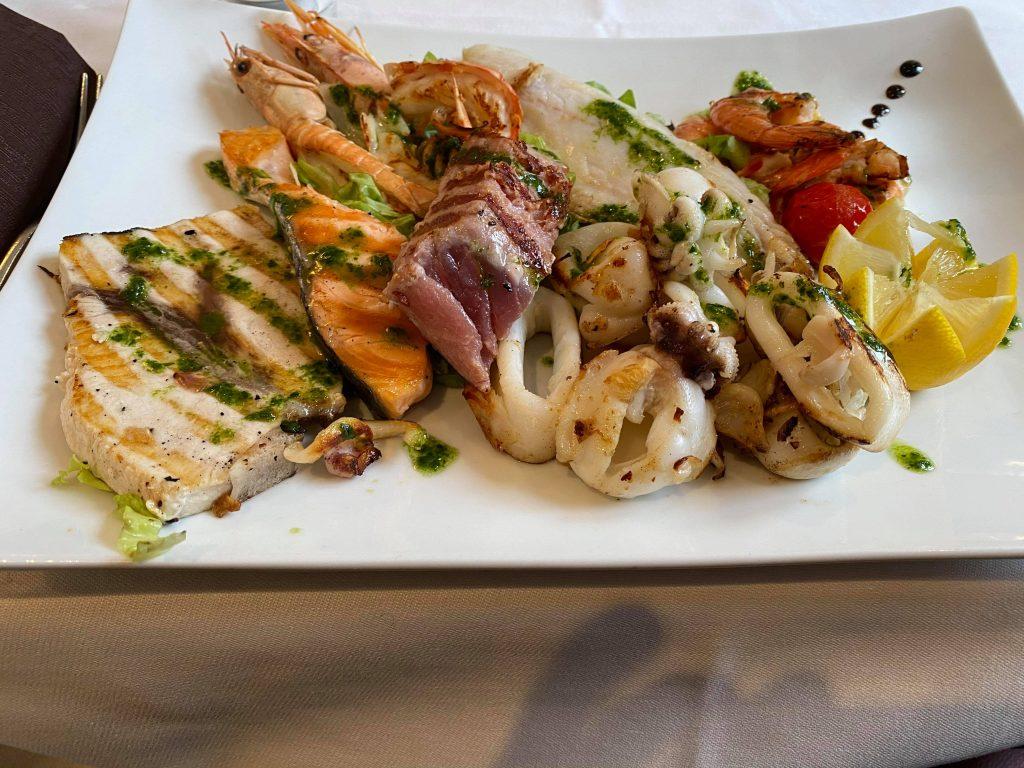 Seafood Platter at Lake Como